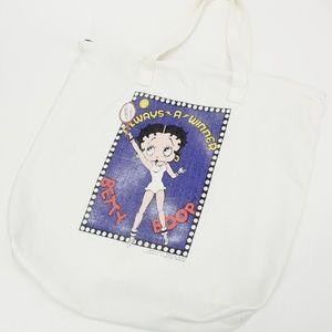 Vintage Bags - Vintage Betty Boop Tennis Tote Bag